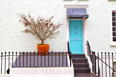 Notting   hill  area  in london    and flowers Stock Photos