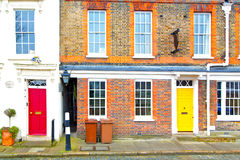 Notting hill  area  in london  old suburban   wall door Royalty Free Stock Image