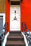 Notting   hill  area  in london  suburban      wall door Stock Photos