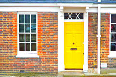 Notting   hill  area  in london  yellow  wall Stock Photography