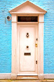 Notting   hill  area  in  old   blue  wall Stock Image