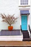Notting   hill  area  in suburban   liliac   wall Stock Photos