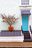 Notting   hill  area  in suburban   liliac   wall Royalty Free Stock Images