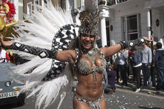 Notting Hill Carnival. Samba Dancer at Notting Hill Carnival royalty free stock photo