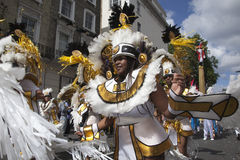 Notting Hill Carnival. Black Samba Dancer at Notting Hill Carnival royalty free stock photo
