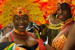 Notting Hill Carnival. 30 August 2010 - London UK:  Two masqueraders at the annual Notting Hill Carnival Stock Image