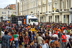Notting hill carnival 2008. The biggest street party in europe Royalty Free Stock Image