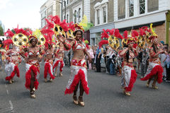 Notting Hill Carnival. Female dancers in Notting Hill Carnival parade in London 2007 Stock Image