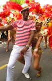 Notting Hill Carnival performers dancing London, England Royalty Free Stock Images