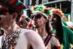 Notting Hill Carnival. Samba boys at the London Notting hill carnival parade Royalty Free Stock Image