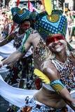 Notting Hill Carnival. Samba girl at the London Notting hill carnival parade Royalty Free Stock Photo
