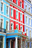 Notting   hill     in england old    liliac   wall Royalty Free Stock Photography
