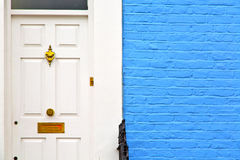 Notting hill in  england old suburban      wall door Royalty Free Stock Photography