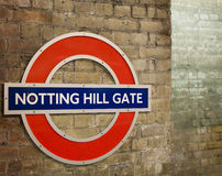 Notting Hill Gate. The notting hill gate station Royalty Free Stock Images