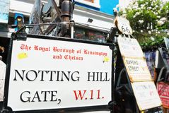 Notting hill gate plate Stock Images