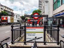 Notting Hill Gate tube station in London, hdr Royalty Free Stock Images