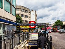 Notting Hill Gate tube station in London, hdr Stock Image
