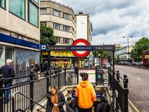 Notting Hill Gate tube station in London, hdr Stock Photo