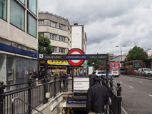 Notting Hill Gate tube station in London Royalty Free Stock Images