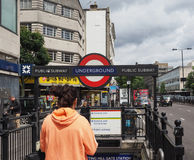 Notting Hill Gate tube station in London Royalty Free Stock Photography
