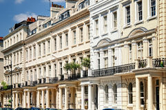 Notting Hill, London. Elegant apartment building in Notting Hill, London Royalty Free Stock Photo