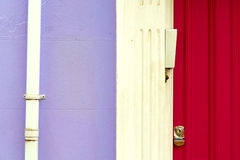 Notting hill     in london england old  antique     wall door Stock Photography