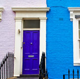 Notting hill in london      england old suburban and antique     wall Stock Photos