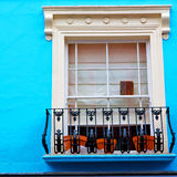 Notting hill in london england old suburban and antique     wall Stock Images