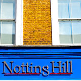 Notting hill in london england old suburban and antique     wall Royalty Free Stock Photos