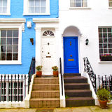 Notting hill in london england old suburban and antique     wall Royalty Free Stock Images