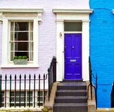 Notting hill in london england old suburban and antique     wall Royalty Free Stock Photography