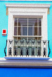 Notting hill in london england old suburban and antique     wall Stock Image