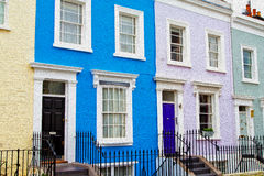 Notting hill in london england old suburban and antique     wall Stock Photo