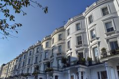 Notting Hill London houses stock photography