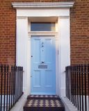 Notting hill, London, light blue door. Notting hill, London, colorful entrance light blue door Stock Photos