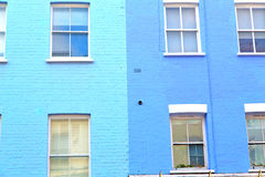 Notting hill in london old suburban    wall door Royalty Free Stock Images