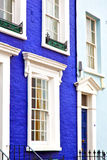 Notting hill in london  old suburban     wall door Royalty Free Stock Image