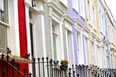 Notting   hill    in london  suburba   liliac   wall Royalty Free Stock Photos