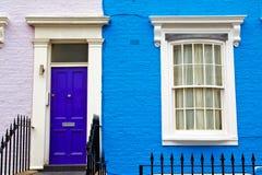 Notting hill in london   suburban     wall door Royalty Free Stock Photos