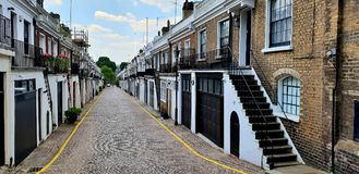 Notting Hill Mews, London stock image