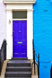 Notting hill in old suburban     wall door Royalty Free Stock Photography