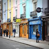 Notting Hill shopping Stock Photography