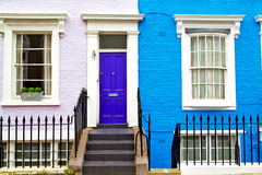 notting hill in  suburban and antique     wall door Royalty Free Stock Photography