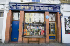 Notting- Hillbuchhandlung Stockfotografie