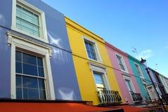 Notting- Hillhäuser Lizenzfreie Stockfotografie