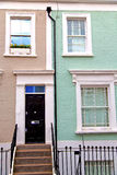 Notting     in london   and antique blue  wall Stock Photography