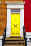 Notting     in london  antique yellow  wall Royalty Free Stock Photos
