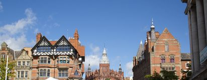 Nottingham architecture Royalty Free Stock Photos