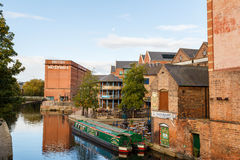 Nottingham canal and British Waterways building Royalty Free Stock Image