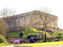 Nottingham Castle. This may break a dream, but this is Nottingham Castle, as it is today Stock Photo